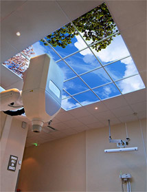 Baclesse Radiotherapy Center in France features a Luminous SkyCeiling above their CyberKnife