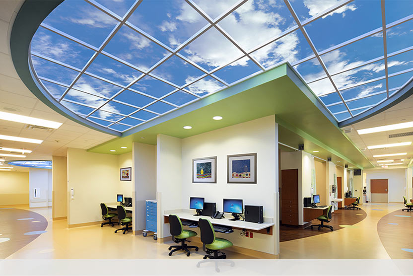 Custom Luminous SkyCeiling at Kingwood Medical's New Women and Children Center