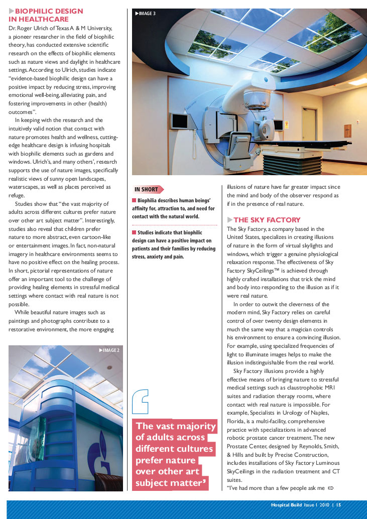 Hospital Build Magazine - Biophilic design article page 2