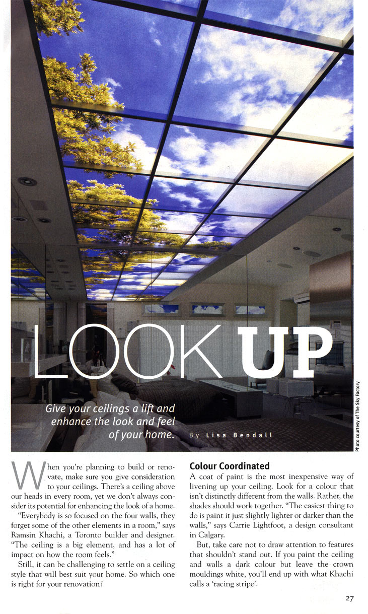 Homes and Cottages magazine - Look Up page 1