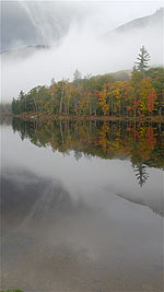 Autumn Clouds, Mist and Fog, Basin Pond, New Hampshire